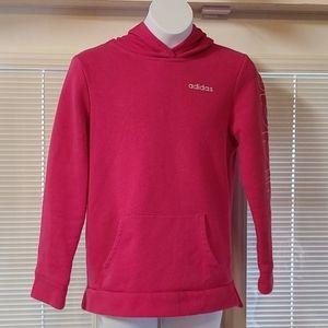 Adidas girls pink hoodie sweatshirt